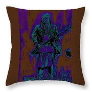 Geronimo With Rifle C.s. Fly Photo 1887-2008 Throw Pillow