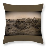Geronimo's Band Of Warriors When He Surrendered To General Crook  September 4 1886 Throw Pillow