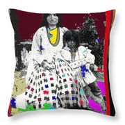 Geronimo's Wife Ta-ayz-slath And Child Unknown Date Collage 2012 Throw Pillow