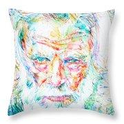 Gerry Mulligan - Portrait Throw Pillow
