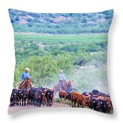 Get Along Lit' Dogies Throw Pillow