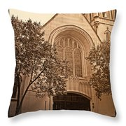 Get Me To The Church Throw Pillow