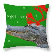 Get Merry Throw Pillow