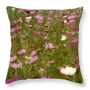 Get Well Bouquet Just For You Throw Pillow