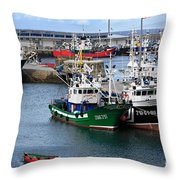 Getaria Fishing Fleet Throw Pillow