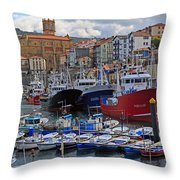 Getaria In Basque Country Spain Throw Pillow