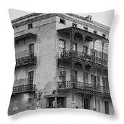 Gettin' By In New Orleans Bw Throw Pillow