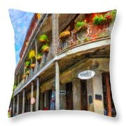 Getting Around The French Quarter - Watercolor Throw Pillow