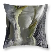 Getting Attention Throw Pillow