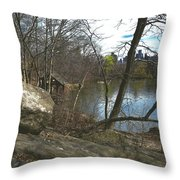 Getting Lost In Central Park Throw Pillow