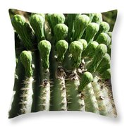 Getting Ready To Bloom Throw Pillow