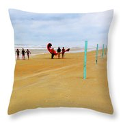 Getting Ready To 'fly' Throw Pillow