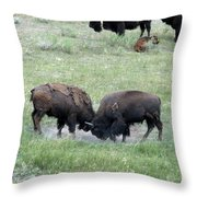 Getting Rough Throw Pillow