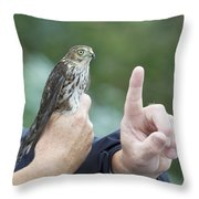 Getting The Finger Throw Pillow