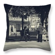 Getting The Latest News Throw Pillow