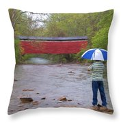 Getting The Shot Throw Pillow