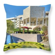 Getty Center Central  Garden Brentwood  Ca Throw Pillow