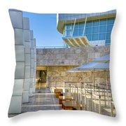 Getty Center Tram Waiting Area Brentwood  Ca Throw Pillow
