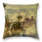 Gettysburg Anniversary 150 Years Throw Pillow