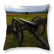 Gettysburg Battlefield Historic Monument Throw Pillow by James Brunker
