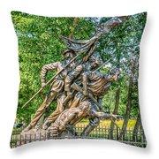 Gettysburg Battleground Memorial Throw Pillow