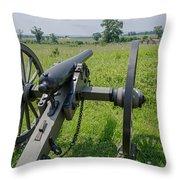 Gettysburg Cannon 2  Throw Pillow