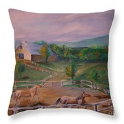 Gettysburg Farm Throw Pillow