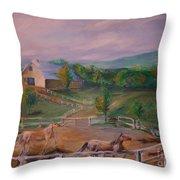 Gettysburg Farm Throw Pillow