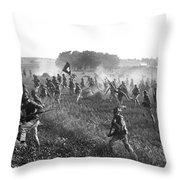 Gettysburg Reenactment Throw Pillow