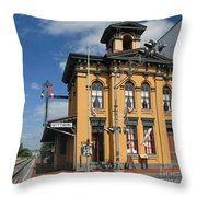 Gettysburg Train Station Throw Pillow