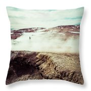 Geyser Sol De Manana Throw Pillow