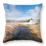 Geysers Throw Pillow