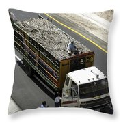 Getting The News Throw Pillow
