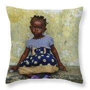 Ghanaian Child Throw Pillow