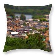 Ghanaian Village Throw Pillow