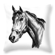 Ghazibella Thoroughbred Racehorse Filly Throw Pillow