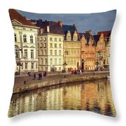 Ghent Waterfront Throw Pillow