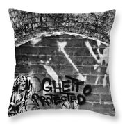 Ghetto Protected Throw Pillow