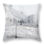 Ghost Barn Throw Pillow
