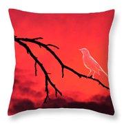 Ghost Bird Throw Pillow
