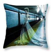 Ghost Bride Throw Pillow