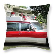 Ghost Buster Style Ambulance Throw Pillow