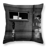 Ghost Couple Throw Pillow