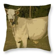 Ghost Cow 2 Throw Pillow