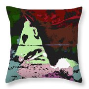 Ghost Cow Throw Pillow
