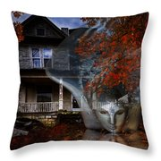 Ghost Throw Pillow by Debra and Dave Vanderlaan
