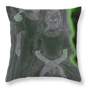 Ghost Family Portrait Throw Pillow