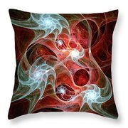 Ghost Flames Throw Pillow