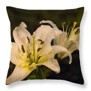 Ghost Lilies Throw Pillow