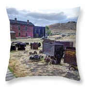 Ghost Mining Town Of Montana Throw Pillow